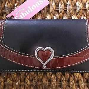 """BRIGHTON """"Heritage Heart"""" Wallet"""
